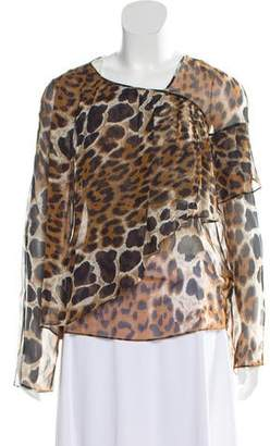 5ba33f8bc5 Robert Rodriguez Silk Animal Print Blouse
