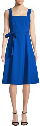 Calvin Klein Sleeveless Cotton Blend Fit--Flare Dress