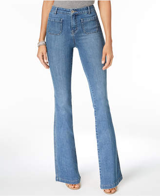 Style&Co. Style & Co Patch-Pocket Flared Jeans, Created for Macy's