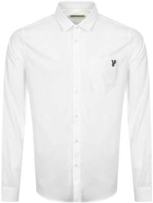 Versace Slim Fit Pocket Shirt White