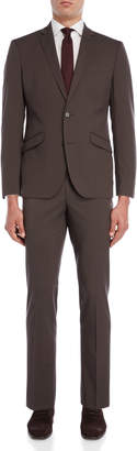 Kenneth Cole Reaction Two-Piece Taupe Solid Suit