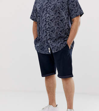 Duke King Size chino short with stretch in navy