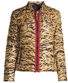 Etro Tiger-Print Quilted Puffer