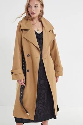 AVEC LES FILLES Colorblock Cotton Trench Coat