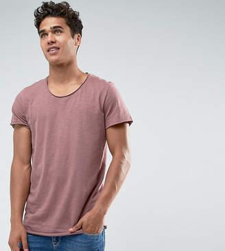 Jack and Jones Originals Long Line T-Shirt With Scoop Neck And Raw Hem