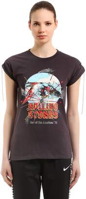 Embellished Printed Jersey T-Shirt