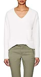 ATM Anthony Thomas Melillo Women's Nubby Crop V-Neck Sweater-White