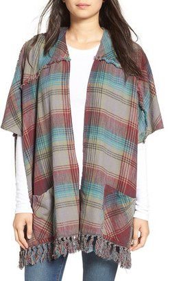 Billabong 'Forever Fall' Plaid Kimono Cardigan $64.95 thestylecure.com