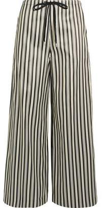 McQ Striped Twill Wide-Leg Pants