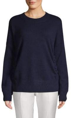 Derek Lam 10 Crosby Dropped Shoulder Cashmere Sweatshirt