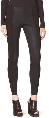 Michael Kors Leather/Suede Leggings