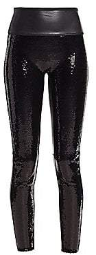 Spanx Women's Faux Leather Sequin Leggings