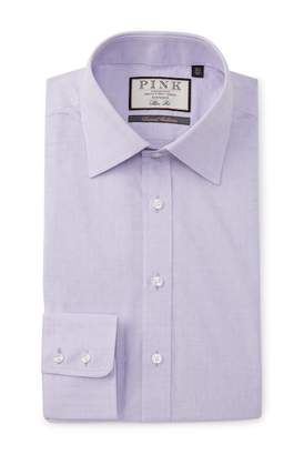 Thomas Pink Slim Fit Connaris Textured Dress Shirt