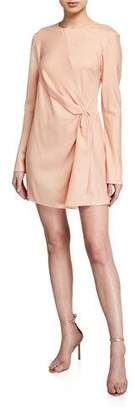 Maggie Marilyn Twice As Nice Long-Sleeve Silk Dress