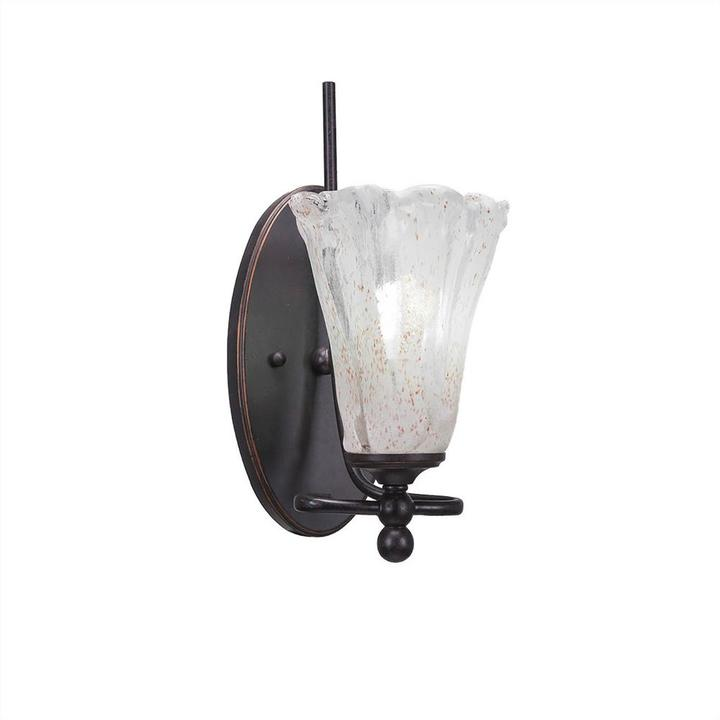 Cambridge SilversmithsCambridge 1-Light Dark Granite Sconce with Clear Seeded Glass