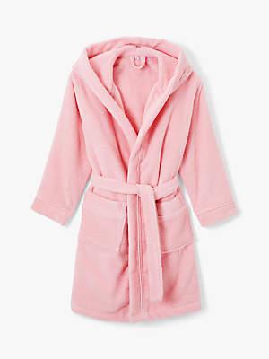 John Lewis & Partners Girls' Towelling Robe, Pink