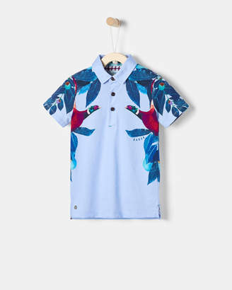 Ted Baker GRAEL Printed cotton polo shirt