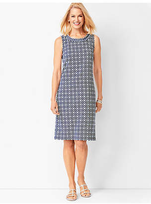 Talbots Cotton-Knit Shift Dress - Floral