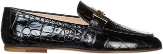 Tod's Tods Leather Loafers Moccasins Double T