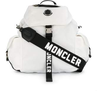 Moncler logo strap backpack