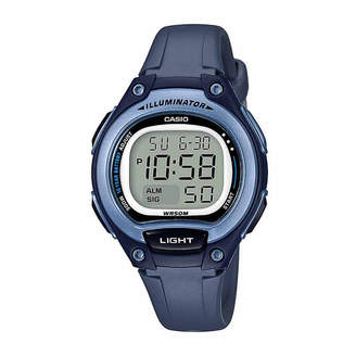 Casio TABLE Table Illuminator Womens Blue Strap Watch-Lw203-2avpb