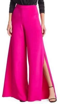Cushnie et Ochs Silk Wide-Leg Slit Pants