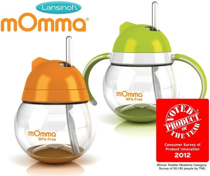 Lansinoh mOmma Straw Cup - Green - 8.4 oz