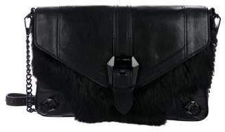 Rebecca Minkoff Leather & Fur Crossbody Bag