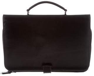 Lanvin Bicolor Leather Top Handle Tablet Case
