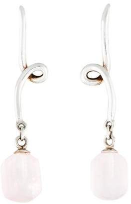 Tiffany & Co. Rose Quartz Twirl Drop Earrings