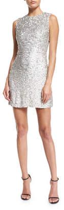 Jenny Packham Iridescent Beaded Sleeveless Mini Dress, Silver $2,640 thestylecure.com