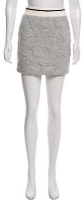 Rag & Bone Leaf Embossed Mini Skirt