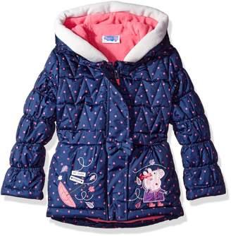 Peppa Pig Toddler Girls' Printed Polka Dot Puffer Coat