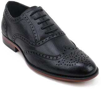 X-Ray Xray XRay Speck Men's Wingtip Dress Shoes