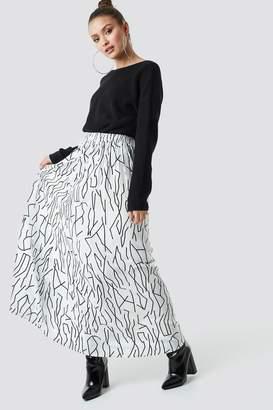 Na Kd Trend Abstract Print Maxi Skirt White/Black