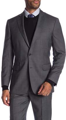 Brooks Brothers Charcoal Plaid Two Button Notch Lapel Wool Classic Fit Suit Separates Jacket