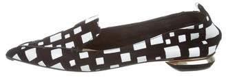 Nicholas Kirkwood Suede Pointed-Toe Flats