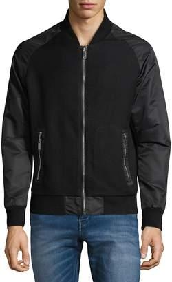 Karl Lagerfeld Men's Full-Zip Textured Jacket