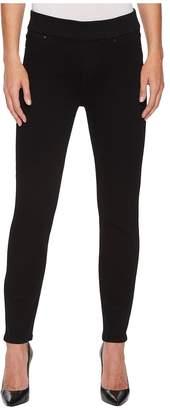 Liverpool Sienna Ankle Pull-On Leggings in Premium Super Stretch Denim in Black Rinse Women's Jeans