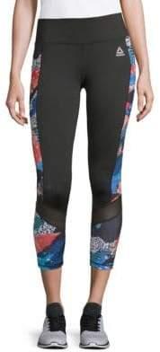 Reebok Aspire Printed Capri Leggings