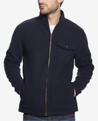 Weatherproof Vintage Men Full-Zip Fleece-Lined Sweater