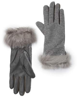 UGG Carry Forward Genuine Shearling Cuff Gloves