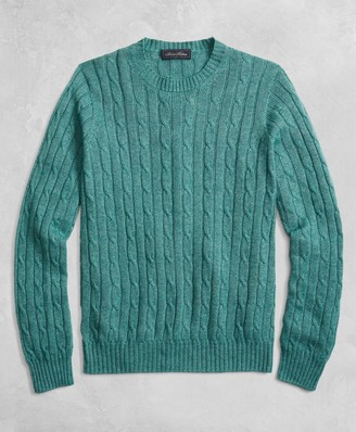 Brooks Brothers Golden Fleece 3-D Knit Cable Crewneck Sweater