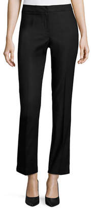 Nic+Zoe The Perfect Front-Zip Ankle Pants Onyx, Petite