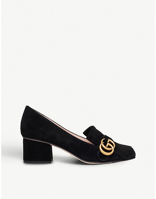 Gucci Marmont fringed suede loafers