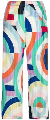 Pleats Please Issey Miyake graphic print pleated trousers