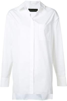 Alexandre Vauthier oversized button shirt