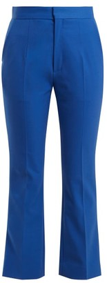 Kwaidan Editions - Vienna Slim Leg Cropped Trousers - Womens - Blue