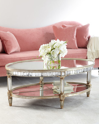 At Horchow John Richard Collection Keene Mirrored Coffee Table