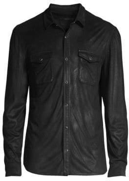 John Varvatos Coated Button-Front Shirt
